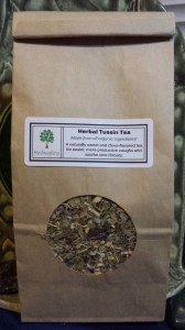 One of my tea blends from my herbal practice designed for respiratory relief.
