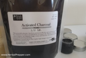 activated charcoal | www.HerbalPrepper.com | KISS First Aid | Herbal First Aid