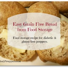 Easy Grain-Free Bread from Food Storage | Food Storage Recipes for Diabetics and Gluten-Free Preppers | www.HerbalPrepper.com