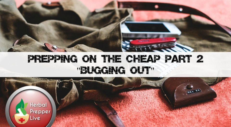 Prepping On The Cheap, Part Two | Bugging Out | 72-hour bag |Herbal Prepper Live | Prepper Broadcasting | www.HerbalPrepper.com
