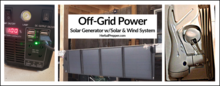 Off Grid Power Solar Generator with Solar and Wind System